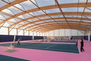 CONSTRUCTION TENNIS ARCHITECTURE TEXTILE