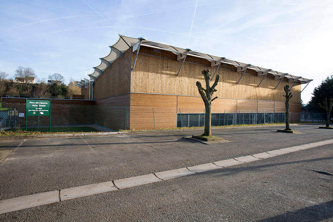 TENNIS WOOD CONSTRUCTION TEXTILE ARCHITECTURE